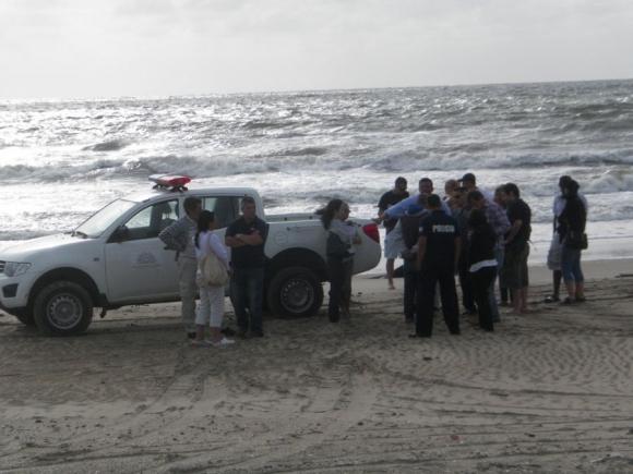 Reconstrucción del camino de Lola a la playa. Foto: E.González