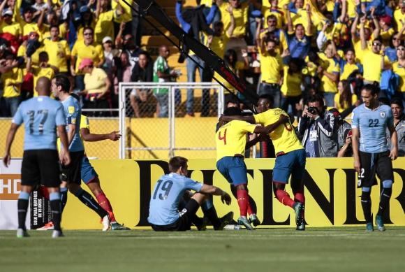 Caicedo abrió el marcador en Ecuador-Uruguay. Foto: EFE