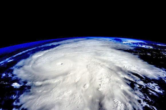 El huracán Patricia visto desde el espacio en una foto de la NASA. Foto: Reuters.