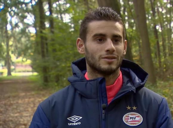 Gastón Pereiro en entrevista para la página oficial del PSV. Foto: captura video