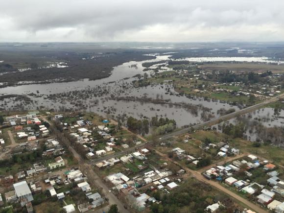 Inundaciones. Foto: Fuerza Aérea