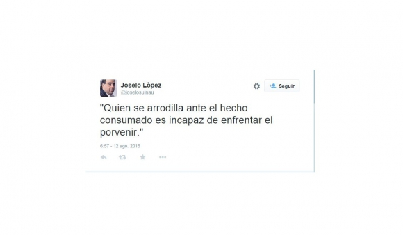 Tuits de Joselo López.