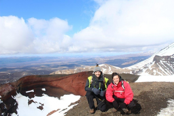 En el Monte Tongariro, donde se filmó El Señor de los Anillos