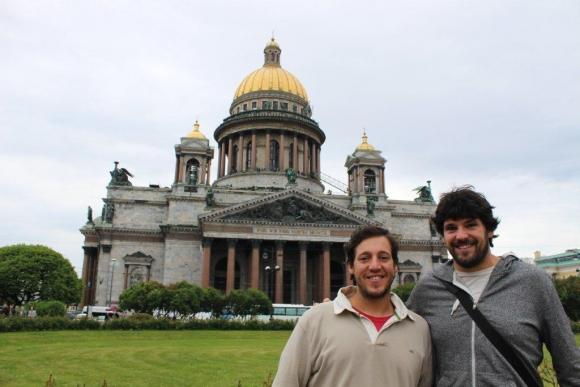 En la Catedral de San Isaac, en San Petersburgo, Rusia