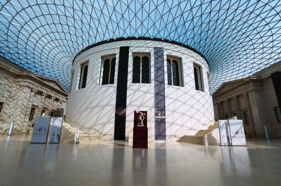 Patio interior del Museo Británico de Londres