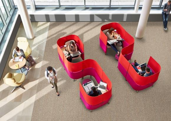 Brody. No se contrapone a la oficina abierta, es un espacio para tareas que requieren mucha atención. Foto: Steelcase.