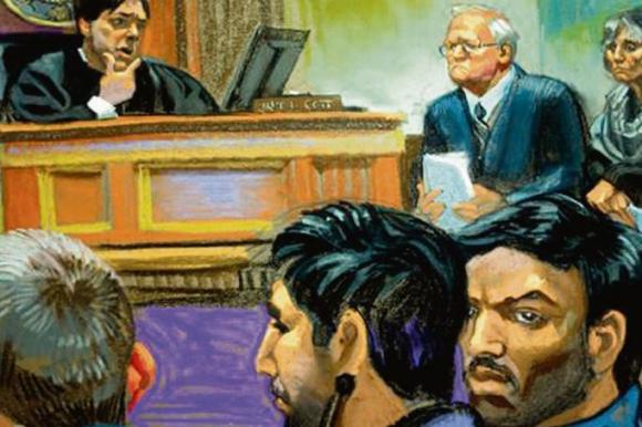 Los sobrinos durante la primera audiencia en el Tribunal del Distrito Sur de Nueva York, recibirían beneficios a cambio de información.