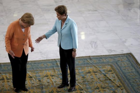 Visita de Angela Merkel a Dilma Rousseff. Foto: Reuters.