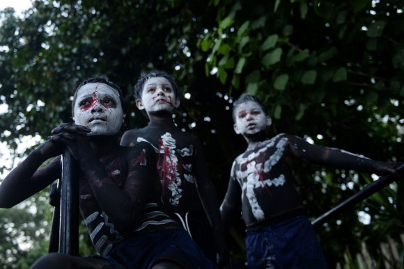 Día de los Muertos en El Salvador. Foto: AFP