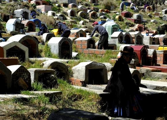Día de los Muertos en Bolivia. Foto: AFP