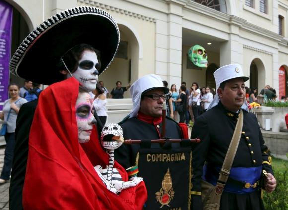 Día de los Muertos en San Pablo. Foto: Reuters