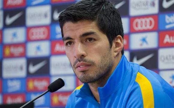 Luis Suárez hoy en conferencia de prensa. Foto: Sport.es