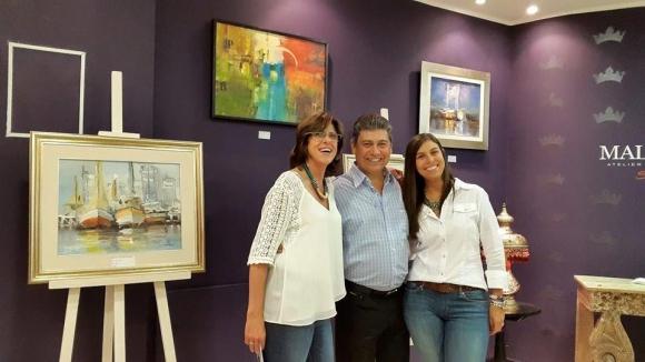 Gabriela Cazabán, Alberto y Valentina Cabrera.