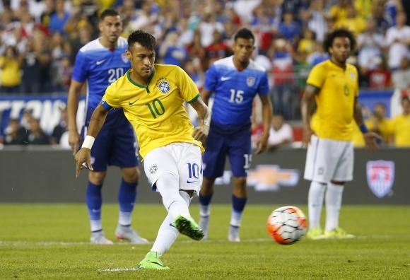 Neymar fue el guía en la victoria de Brasil ante Estados Unidos. Foto: AFP.