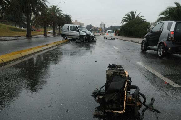 Accidente en la rambla y Coimbra. Foto: Francisco Flores
