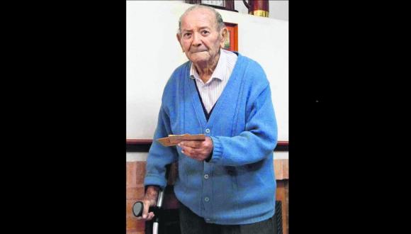 Rosaire Cusimano con 93 años en su casa de Paysandú.