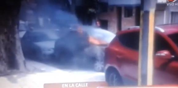 El auto de Roberto Musso (Foto: captura tv)