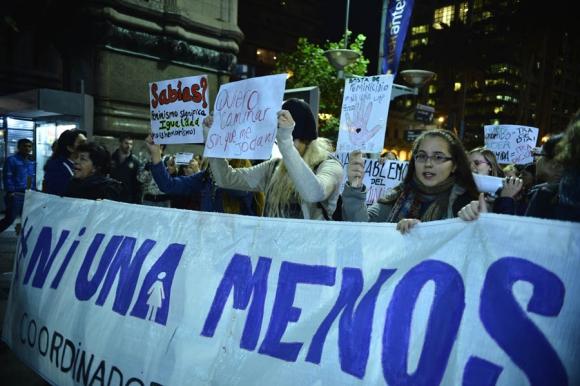 marcha #NiUnaMenos. Foto:Gerardo Pérez