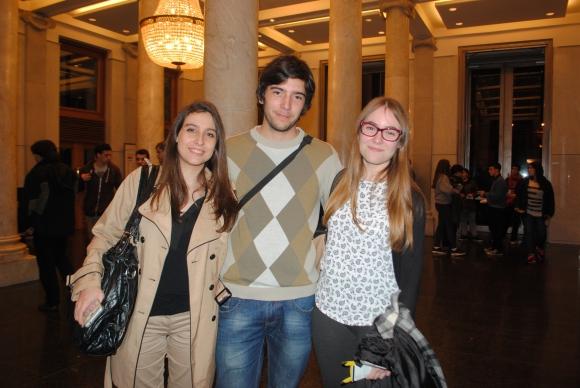 Paula Firpo, Steven Artigas, Martina Marcaccio.