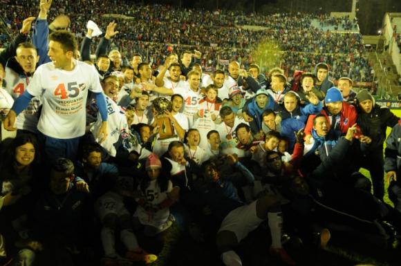 La fiesta tricolor se vivió en cancha y tribunas. Foto: Gerardo Pérez