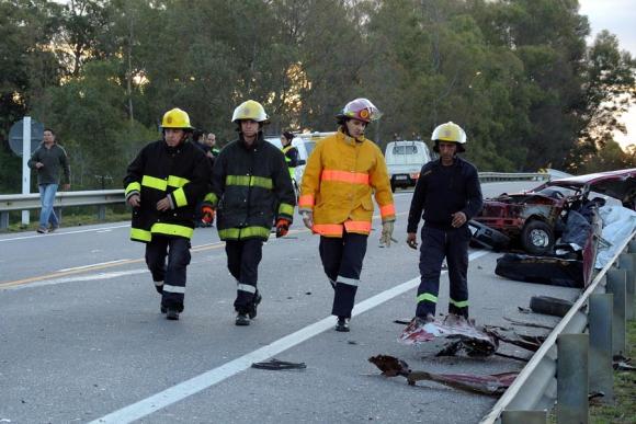 Accidente fatal en Maldonado. Foto: R. Figueredo