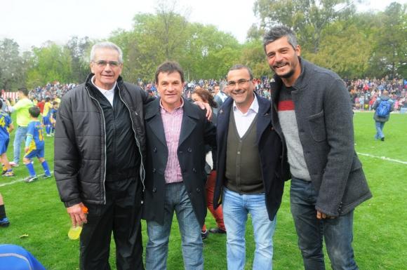 Gregorio Pérez, Jorge Giordano, Gustavo Bueno y Gustavo Munúa fueron los entrenadores. Foto: Ariel Colmegna.