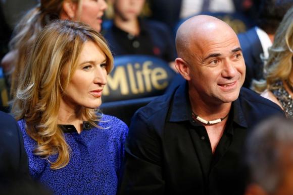 Los extenistas y pareja Steffi Graf y André Agassi. Foto: AFP