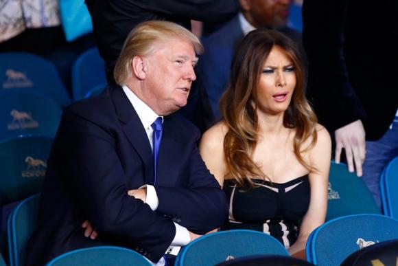 El multimillonario Donald Trump y su esposa Melanie. Foto: AFP