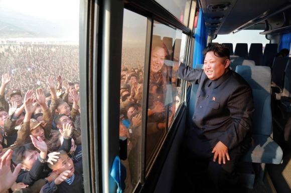 Corea del Norte se prepara para los festejos. Foto: AFP