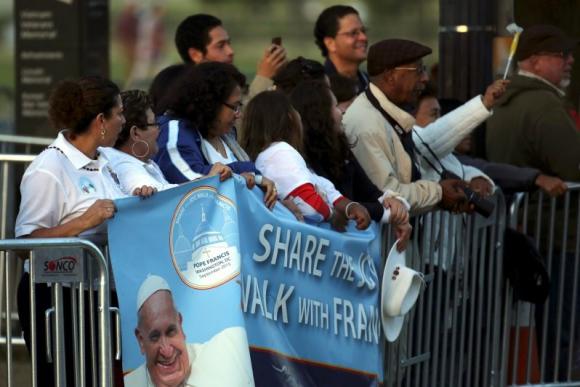 El papa Francisco en EE.UU. Foto: Reuters.