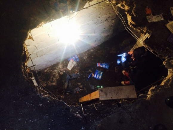 Pozo donde estuvo secuestrada Milvana Salomone. Foto: G. Rodríguez