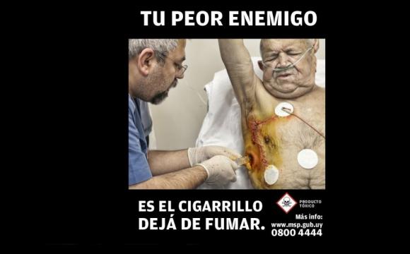 Imágenes de la campaña anti tabaco 2015 por MSP.