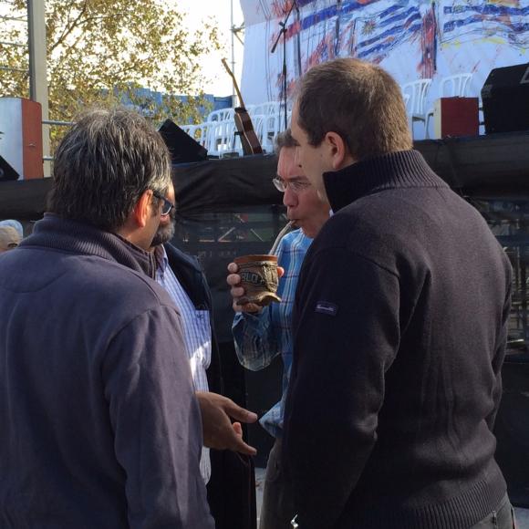 Pablo Ferreri, subsecretario de Economía en el acto del 1°de Mayo