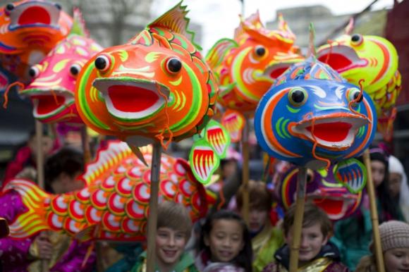 Celebración del año nuevo chino. Foto: AFP.