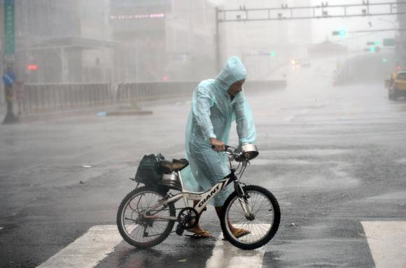 Tifón en Taiwán. Foto: Reuters