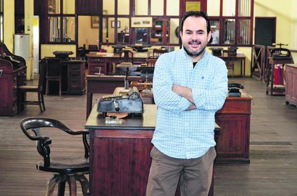 Mauro Delgrosso, director del Museo de la Revolución Industrial. Foto: P. Gómez.