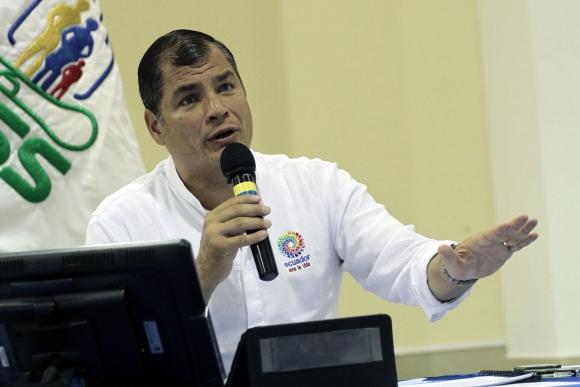 Rafael Correa. Foto: EFE