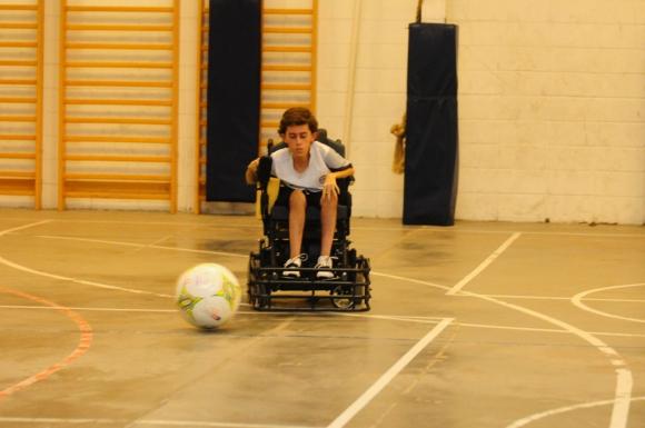Copa Libertadores en silla de ruedas. Foto: M. Bonjour