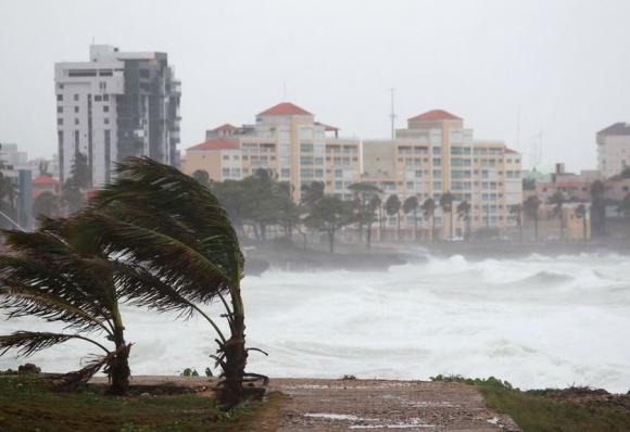 Erika a su paso por República Dominicana. Foto: Reuters.