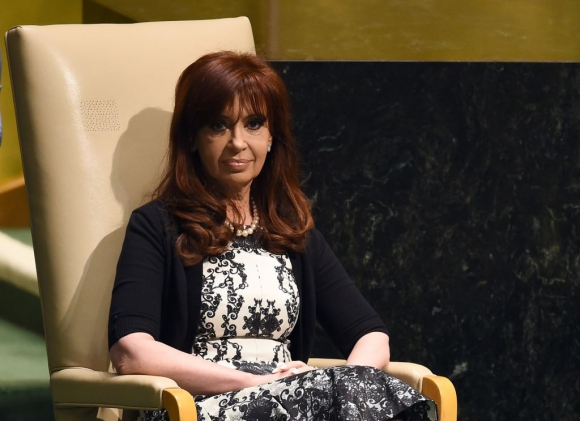 Cristina Fernández en septiembre de 2014. Foto: AFP
