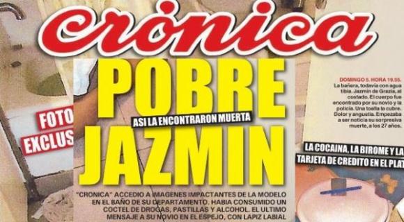 Portada editada de Crónica sobre la muerte de Jazmín de Grazia.