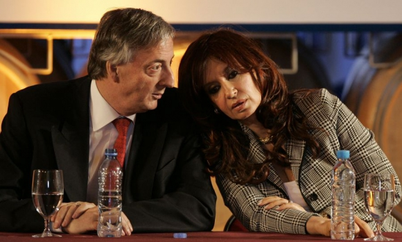 Néstor y Cristina Kirchner. Foto: Archivo El País
