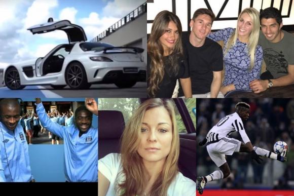 La noche de Suárez y Messi, los autos más lujosos de futbolistas y más
