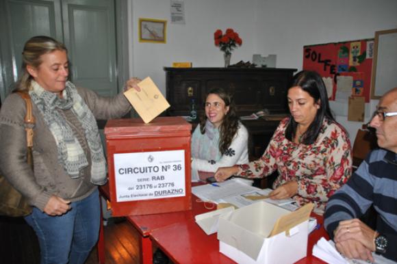 Maria Bocchiardo, candidata a intendenta de Durazno por el Frente Amplio. Foto: Víctor Rodríguez