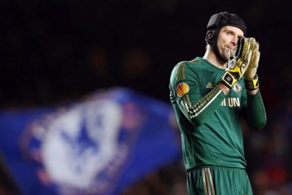 Petr Cech en un partido con el Chelsea. Foto: EFE.