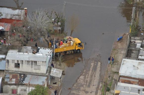En Durazno hasta ayer de tarde había 3.491 personas evacuadas. Foto: Víctor Rodríguez.