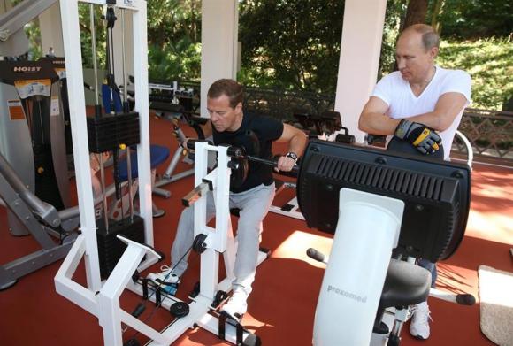 Putin y Medvedev en Sochi.Foto: EFE