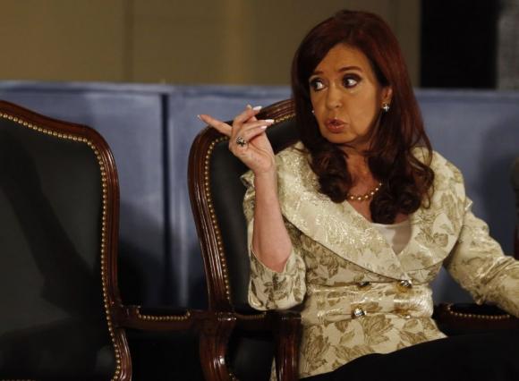 La presidenta Cristina Fernández y la difícil relación con Uruguay. Foto: Reuters.