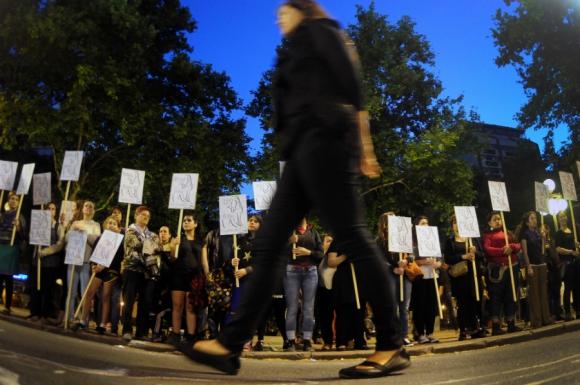 La movilización salió de Plaza Independencia hasta la explanada de la IMM. Foto: Fernando Ponzetto