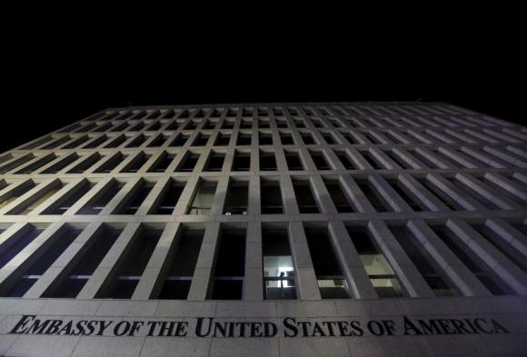 Fachada de la Embajada de Estados Unidos en La Habana. Foto: Reuters